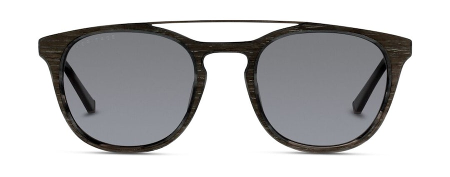 Heritage HS FM08 Unisex Sunglasses Grey/Black