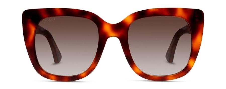 Gucci GG 0163S Women's Sunglasses Brown/Tortoise Shell