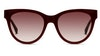 Longchamp LO602S Women's Sunglasses Brown/Violet