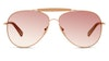 Longchamp LO 100SL Women's Sunglasses Black/Gold