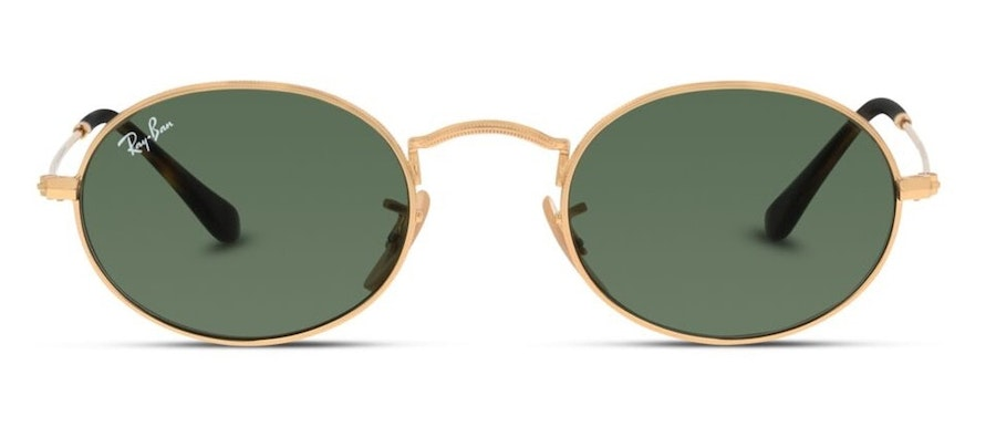 Ray-Ban Oval RB 3547N Unisex Sunglasses Green / Gold
