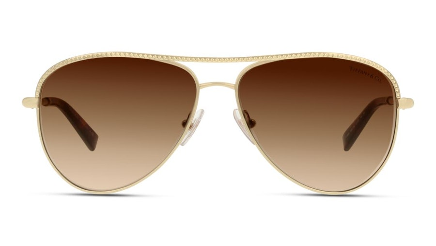 Tiffany & Co TF3062 Women's Sunglasses Brown/Gold