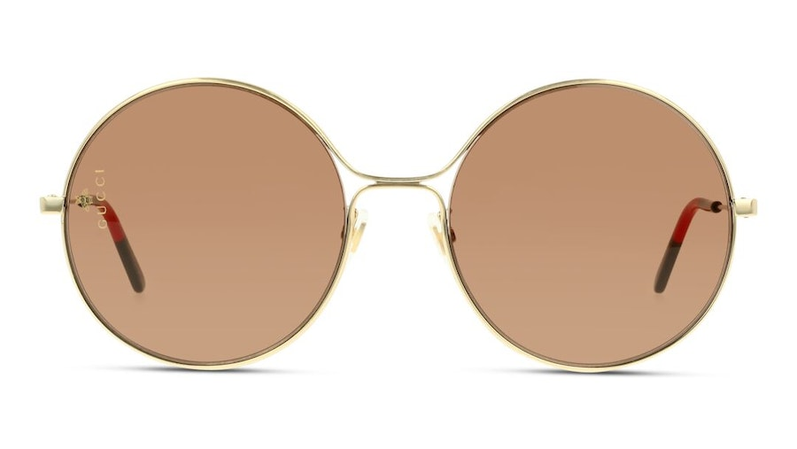 Gucci GG 0395S Women's Sunglasses Brown/Gold