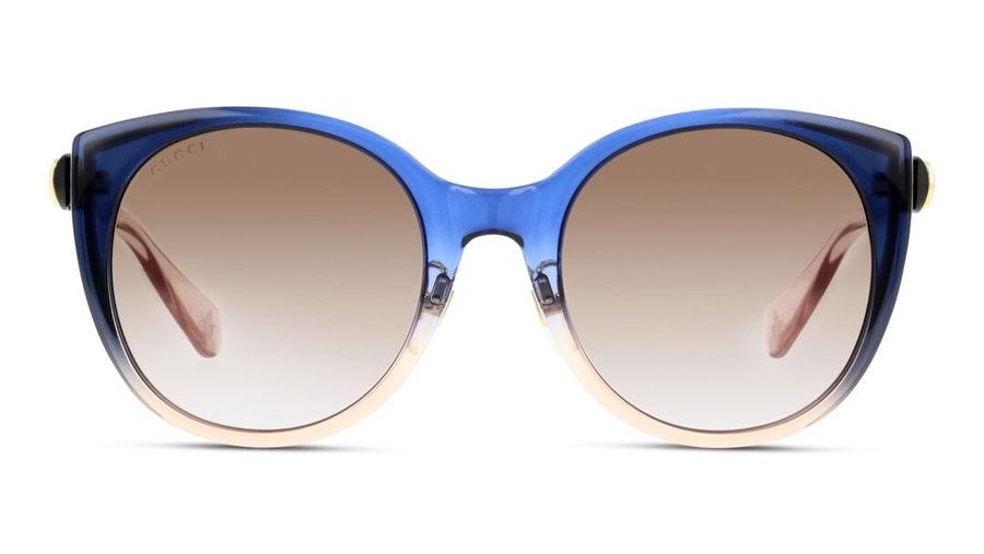 Gucci GG 0369S Women's Sunglasses Brown/Blue