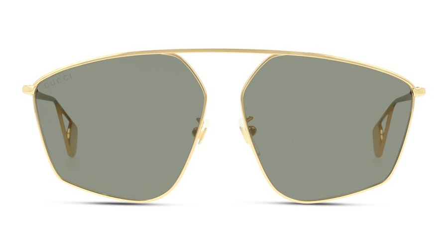 Gucci GG 0437SA Women's Sunglasses Grey/Gold