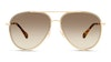 Jimmy Choo Triny Women's Sunglasses Brown/Gold