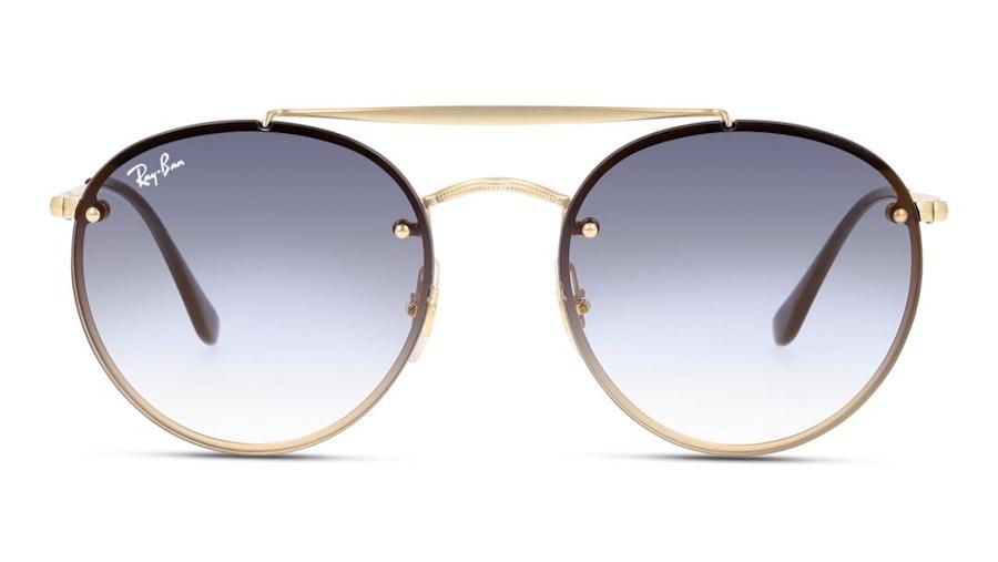 Ray-Ban Blaze Round Doublebridge RB 3614N Unisex Sunglasses Blue / Gold