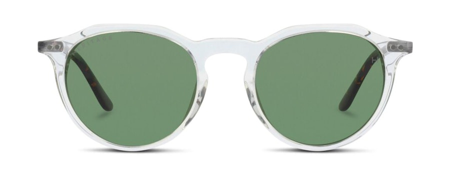 Heritage HS EF38 Unisex Sunglasses Green/Transparent