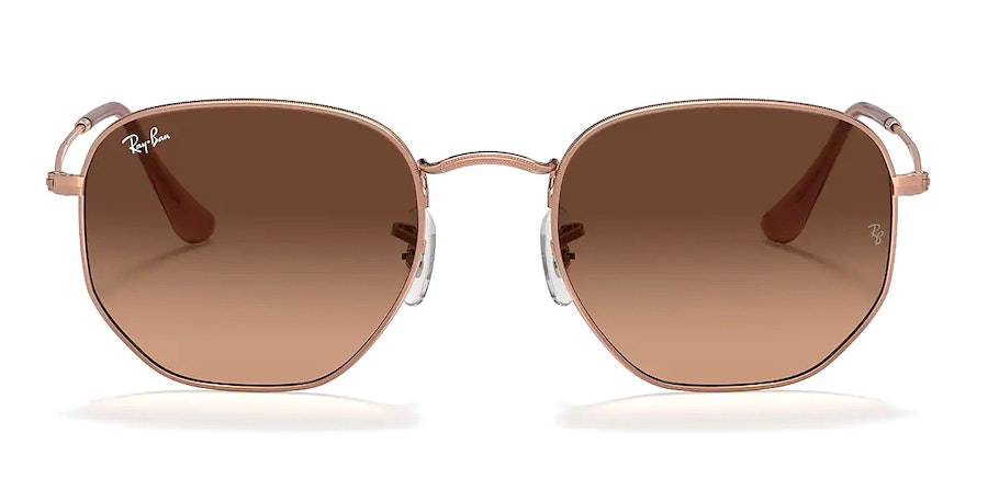 Ray-Ban Hexagonal RB 3548N Unisex Sunglasses Pink/Gold