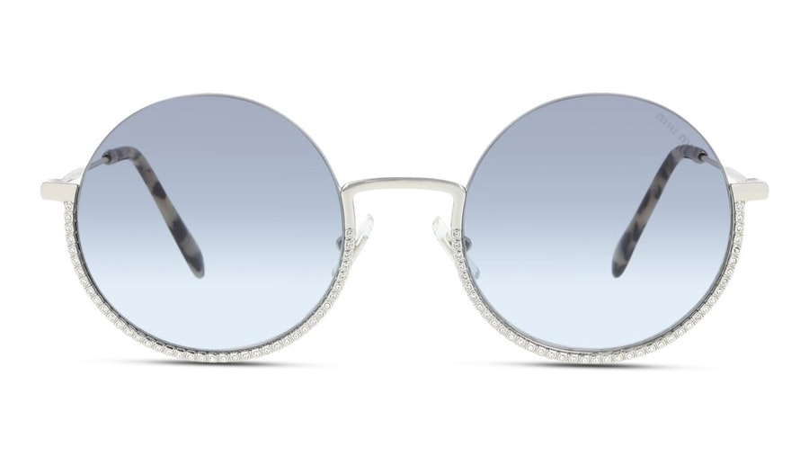 Miu Miu MU 69US Women's Sunglasses Blue / Silver