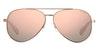Polaroid Mirrored Aviator PLD 6069/S Women's Sunglasses Pink/Gold