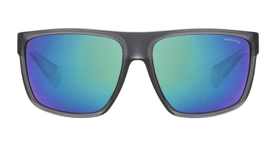 Polaroid Flat-Top Squared PLD 6076/S Men's Sunglasses Green/Grey
