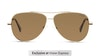 Polaroid 6106/S/X Men's Sunglasses Bronze/Gold