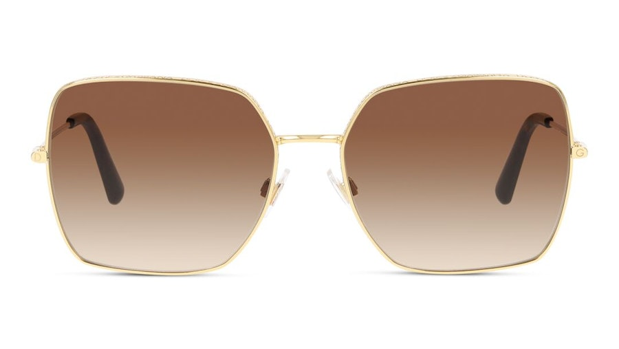 Dolce & Gabbana DG 2242 Women's Sunglasses Brown/Gold