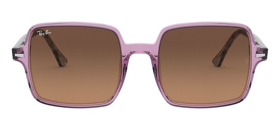 Ray-Ban Square II RB 1973 Women's Sunglasses Brown/Purple