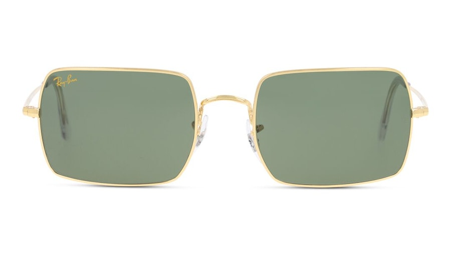 Ray-Ban Rectangle RB 1969 Unisex Sunglasses Green/Gold