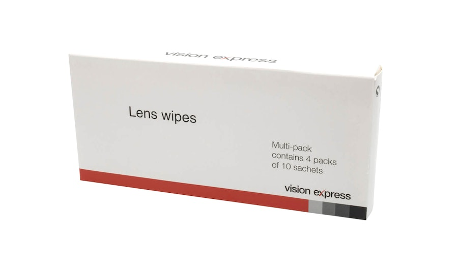 Vision Express Glasses Lens Cleaning Wipes 40 Pack