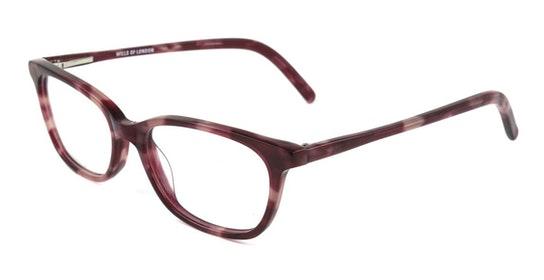 14 (C1) Children's Glasses Transparent / Red