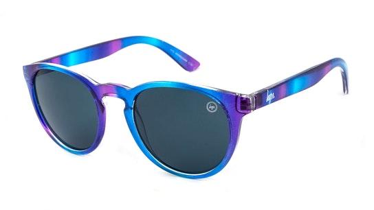 Round Youth Sunglasses Grey / Blue