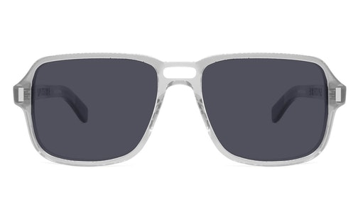 Cut Fourteen Men's Sunglasses Grey / Transparent