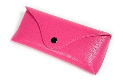 Classic Vegan Leather Envelope Case -  Pink Pink