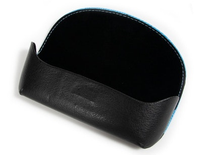 Textile and Vegan Leather Envelope Case -  Blue Blue