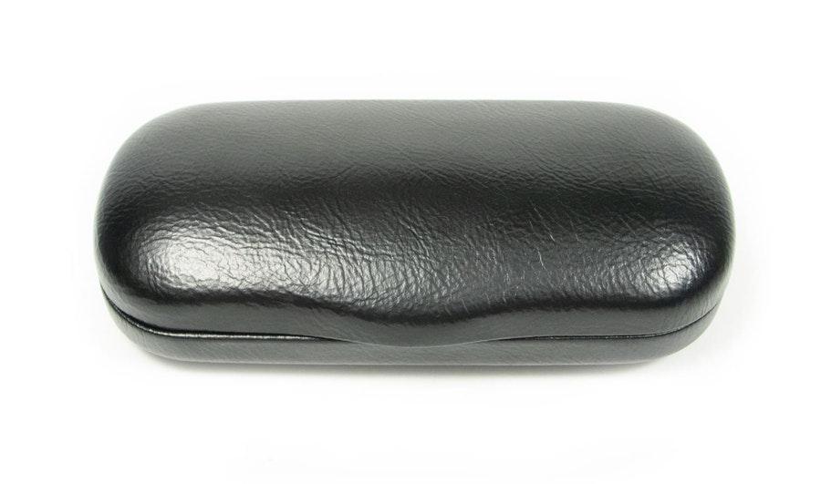 Glasses Case Large Classic Vegan Leather Everyday Case -  Black Black