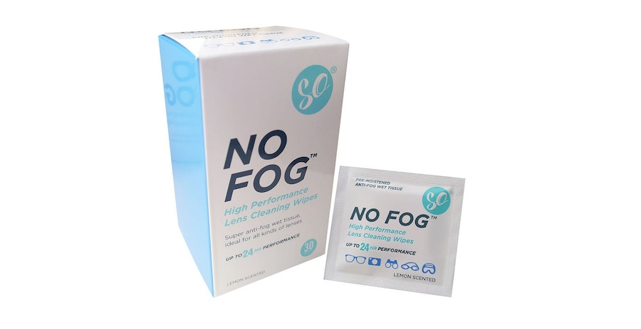 SO No Fog Glasses Lens Cleaning Wipes - 30 Pack