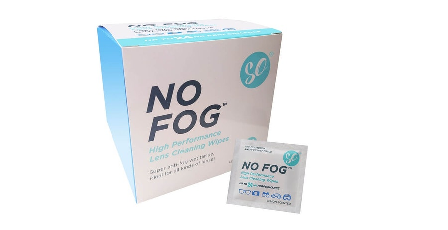 SO No Fog Glasses Lens Cleaning Wipes - 100 Pack