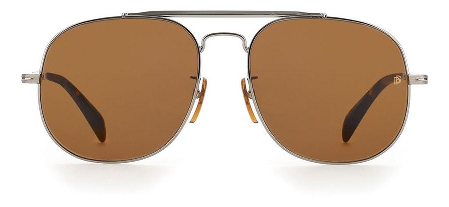 David Beckham Eyewear DB 7004/S Men's Sunglasses Brown/Silver