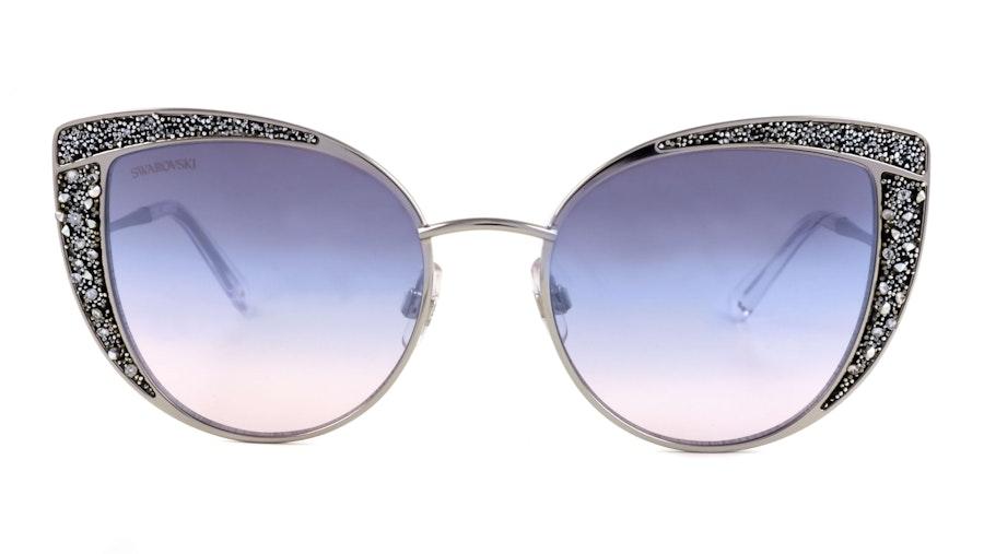 Swarovski SK 0282 Women's Sunglasses Blue/Silver