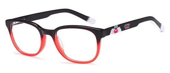 Sylvester LOON234 (BLACK/RED) Children's Glasses Transparent / Black