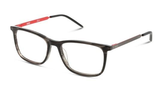 HG 1018 Men's Glasses Transparent / Black
