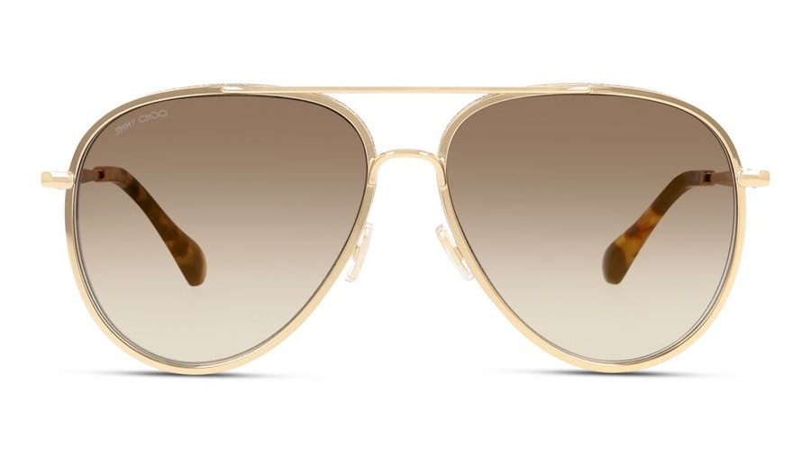 Jimmy Choo Triny Women's Sunglasses Brown / Gold
