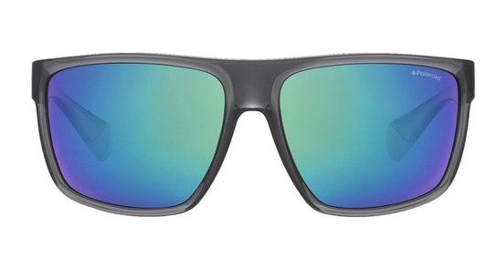 Flat-Top Squared PLD 6076/S (KB7) Sunglasses Green / Grey