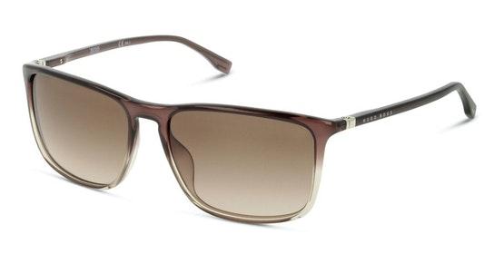 BOSS 0665/N/S Men's Sunglasses Brown / Brown