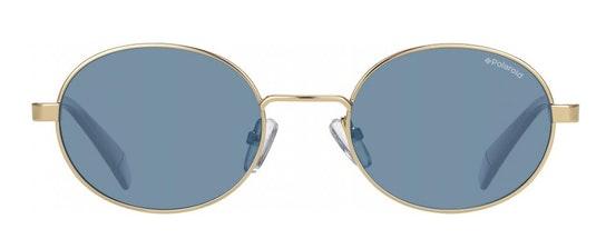 Oval Pop PLD 6066/S (UHU) Sunglasses Blue / Gold