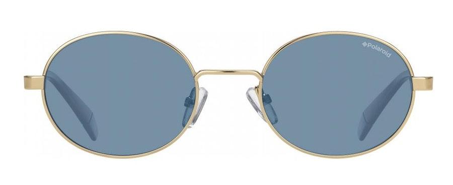 Love Island x Polaroid Oval Pop PLD 6066/S Unisex Sunglasses Blue / Gold