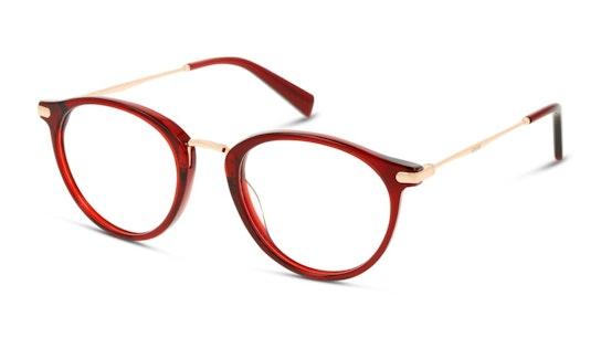 LV 5006 Women's Glasses Transparent / Red