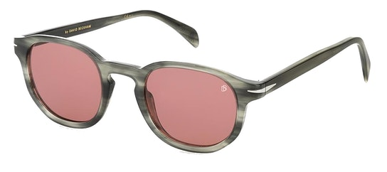 DB 1007/S Men's Sunglasses Burgundy / Grey