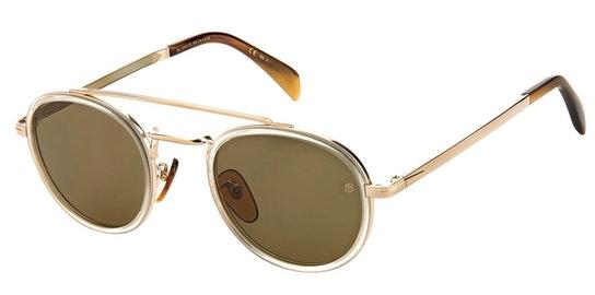 DB 7036/S (001) Sunglasses Green / Blue