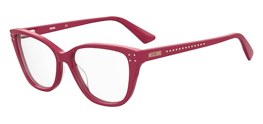 MOS 583 Women's Glasses Transparent / Red
