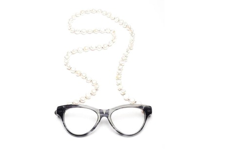 Elements Pearls - Soft Grey Necklace Reading Glasses Grey +2.50