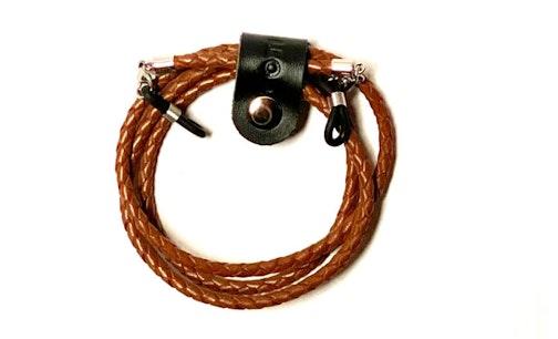 Elements Bolo Leather Glasses Cord Dark Brown