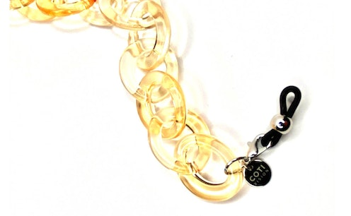 Sole Glasses Chain Crystal Beige