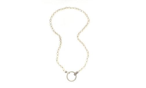 Elements Pearls Glasses Chain White