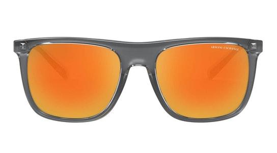 AX 4102S (83196Q) Sunglasses Orange / Transparent