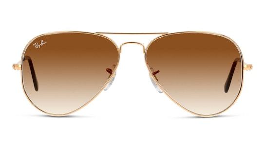 Aviator Gradient RB 3025 (001/51) Sunglasses Brown / Gold