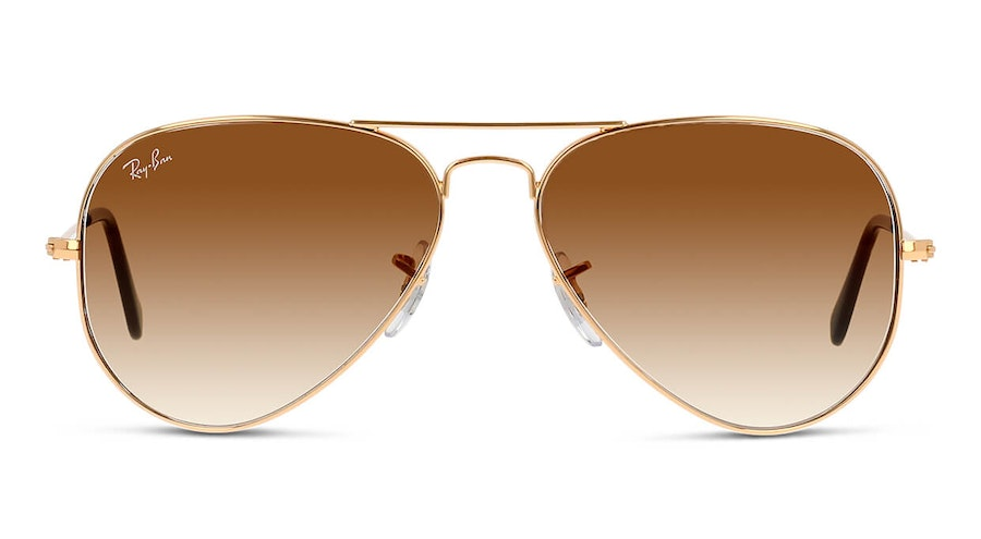 Ray-Ban Aviator Gradient RB 3025 (001/51) Sunglasses Brown / Gold