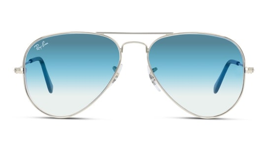 Aviator RB 3025 (003/3F) Sunglasses Blue / Silver